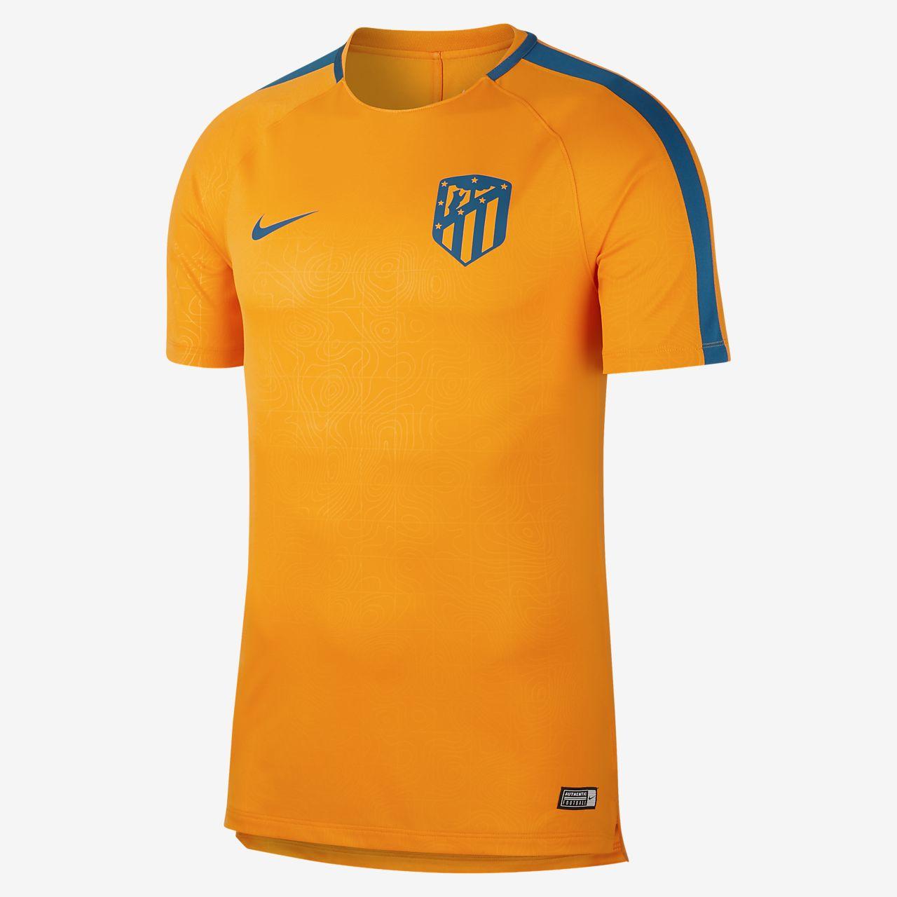 Prenda para la parte superior de fútbol de manga corta para hombre Nike Dri-FIT Atletico de Madrid Squad
