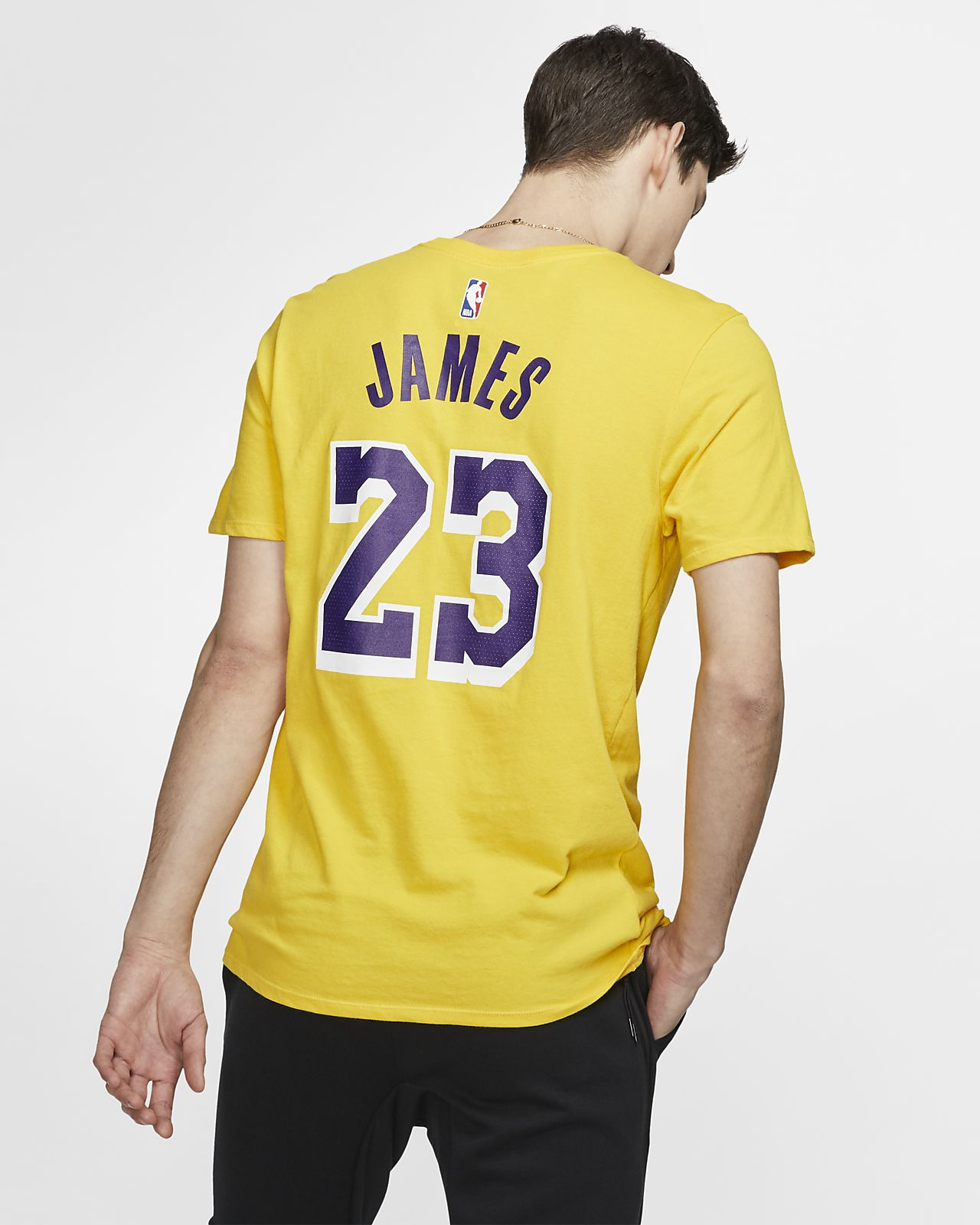 huge selection of bcb69 a5ee6 LeBron James Los Angeles Lakers Nike Dri-FIT NBA T-Shirt