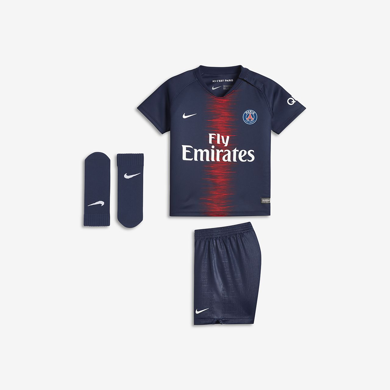 43f581ac60071 2018 19 Paris Saint-Germain Stadium Home Baby Football Kit. Nike.com ZA