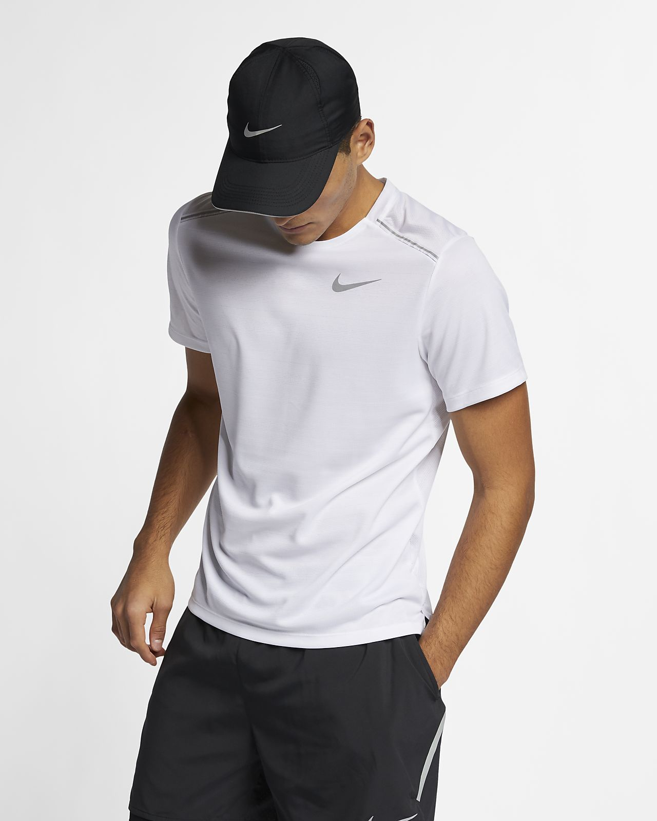 เสื้อวิ่งแขนสั้นผู้ชาย Nike Dri-FIT Miler