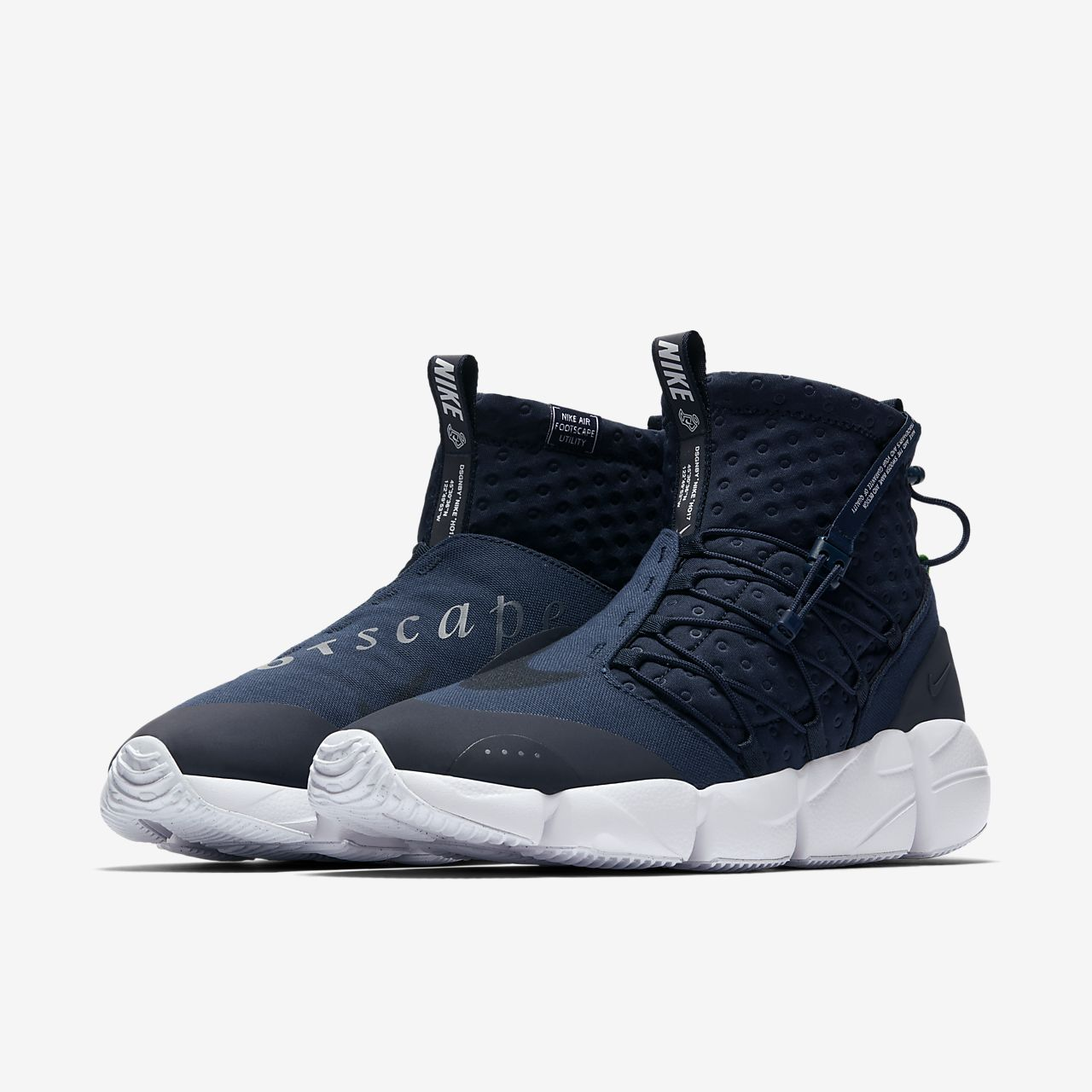 Nike Air Footscape Mid Utility 'Obsidian & White