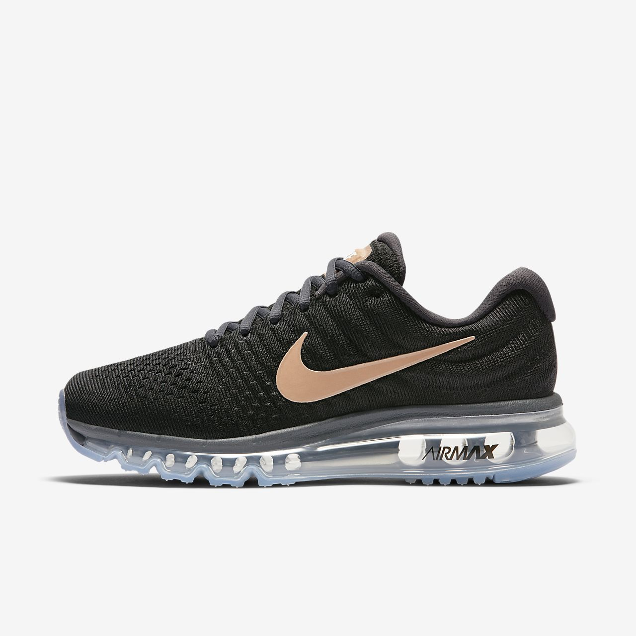 WMNS NIKE AIR MAX 2017 BLACK DARK GREY PARTICLE PINK BRONZE 849560-008 WOMENS