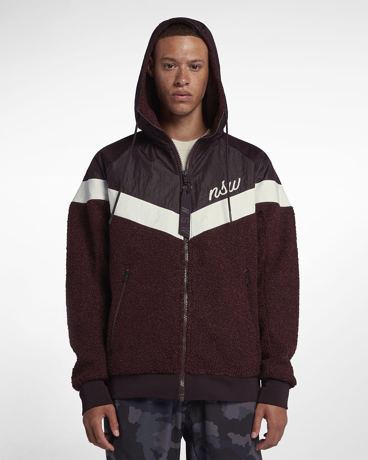 new style 5be3a 21b85 ... Nike Sportswear Windrunner Men s Sherpa Jacket