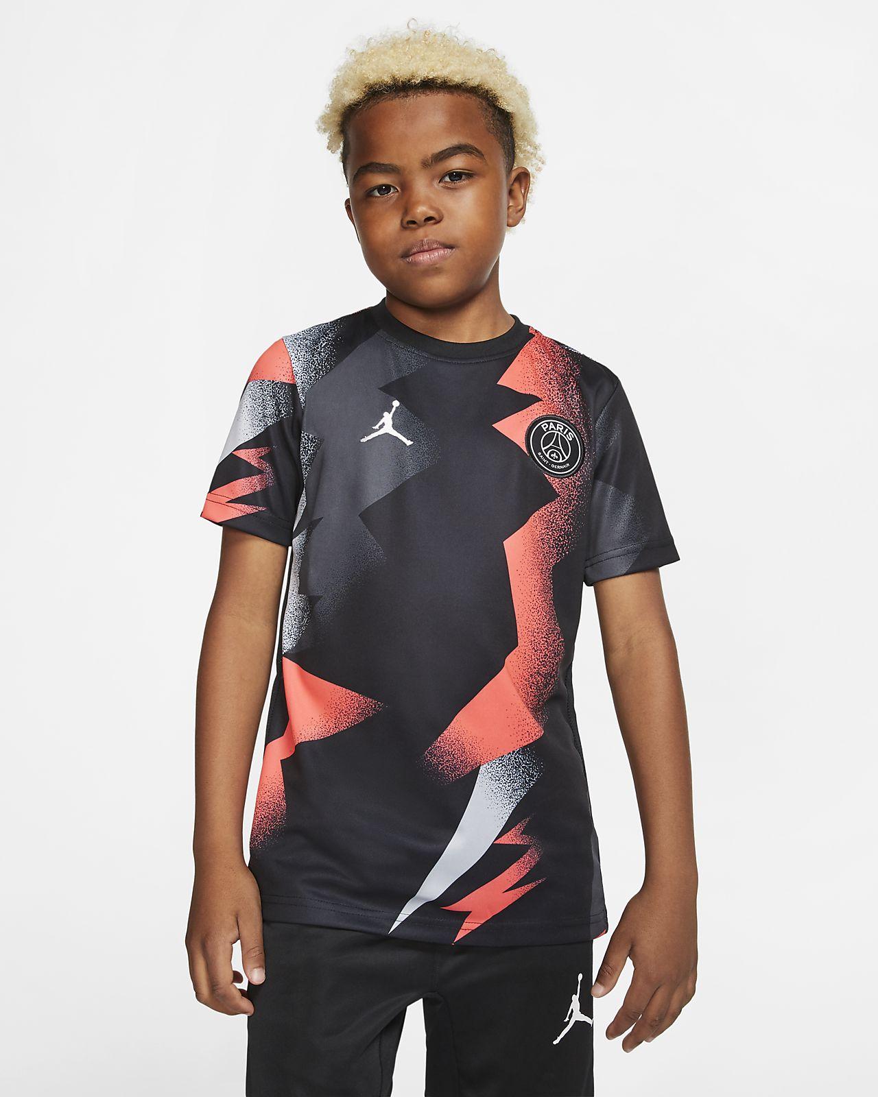 Jordan x Paris Saint-Germain kortermet fotballoverdel til barn