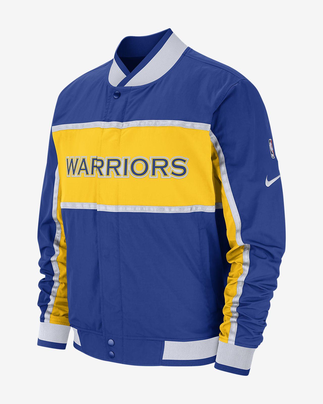 Golden State Warriors Nike Courtside-NBA-jakke til mænd