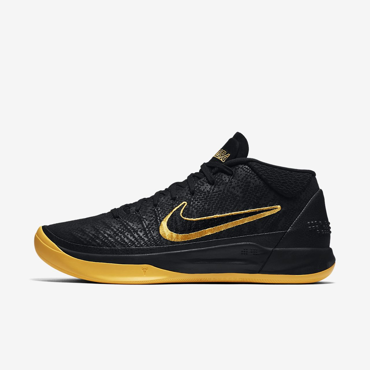 Schwarz Schuhe Nike Kobe A.d. Mamba Gold Herren Basketball