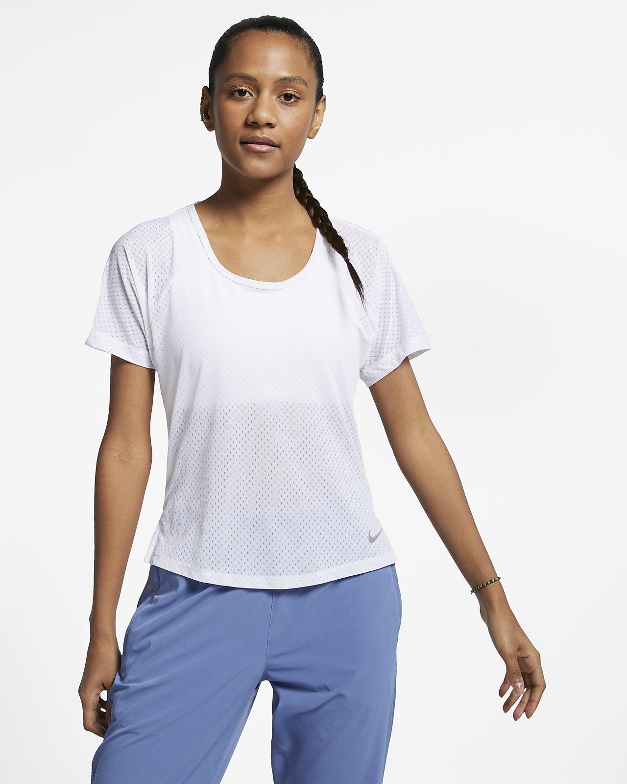 Женская беговая футболка Nike Breathe Miler