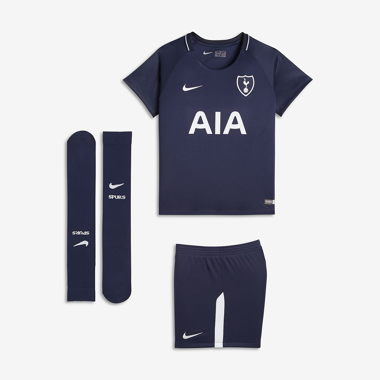 c04f9a5da 2017 18 Tottenham Hotspur Stadium Away Younger Kids  Football Kit ...