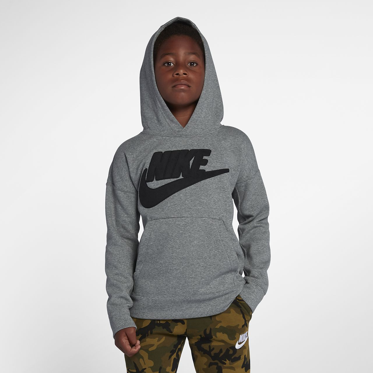 Boy's Dri Fit Therma Camouflage Hoodie