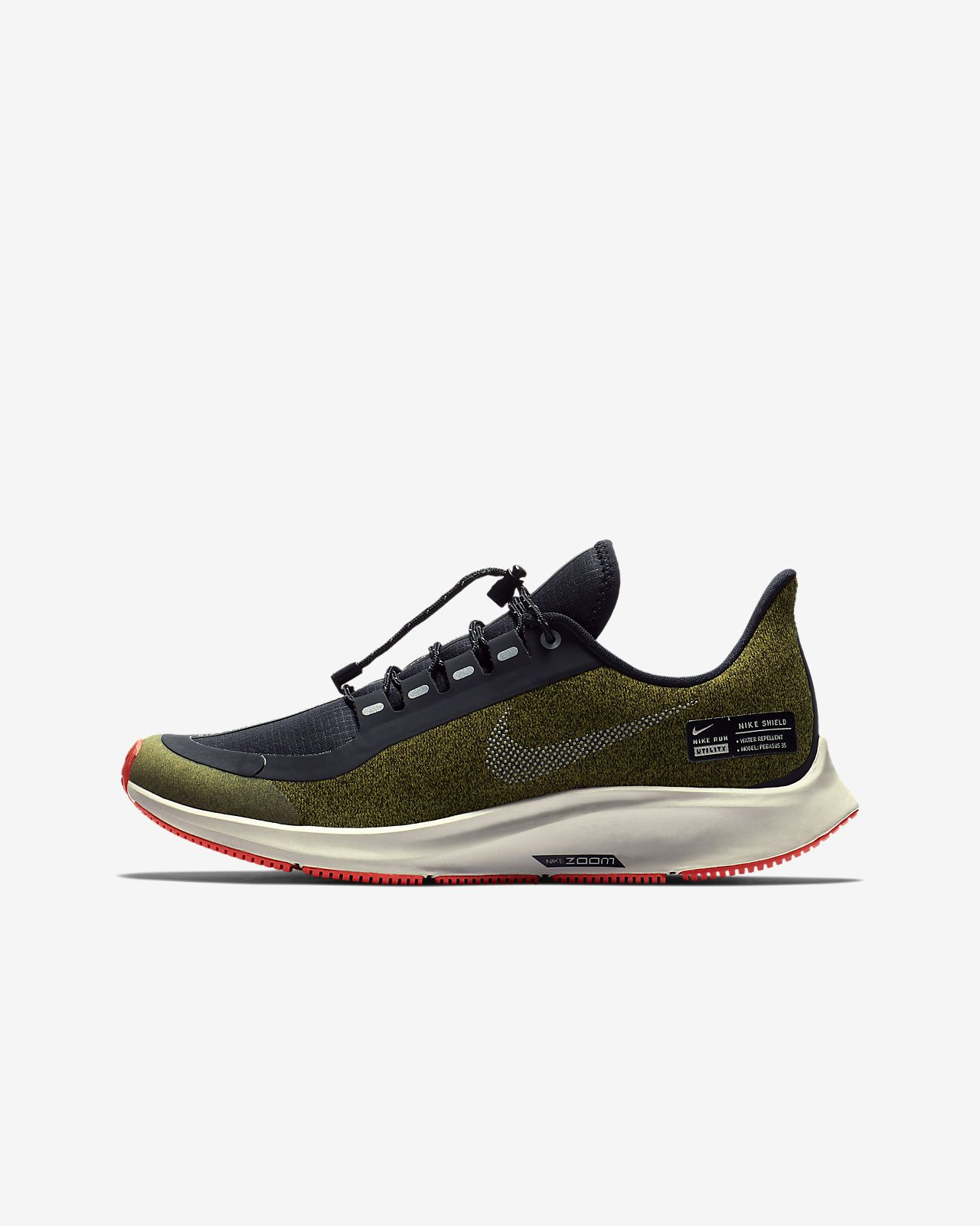 fa25e807c2c Nike Air Zoom Pegasus 35 Shield Younger Older Kids  Running Shoe ...