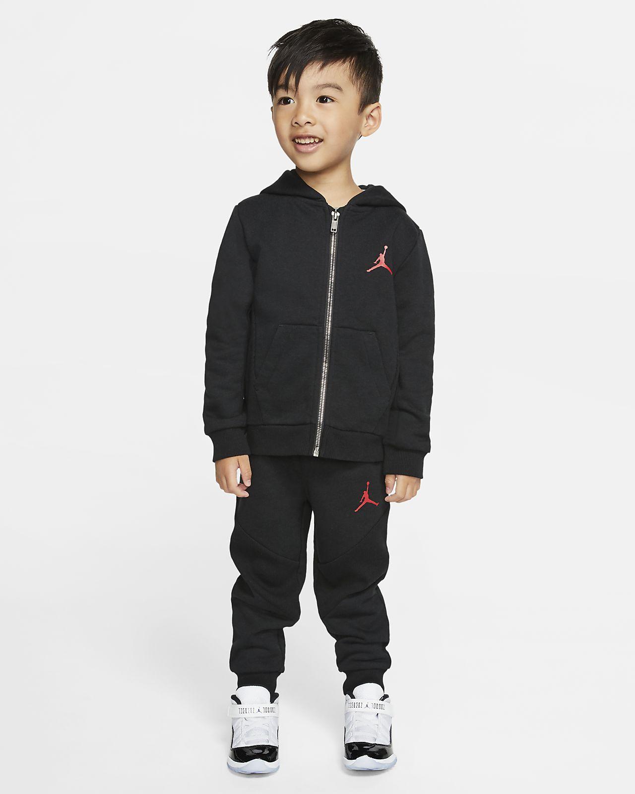 Jordan Jumpman-2-delt sæt med hættetrøje og joggingbukser til småbørn