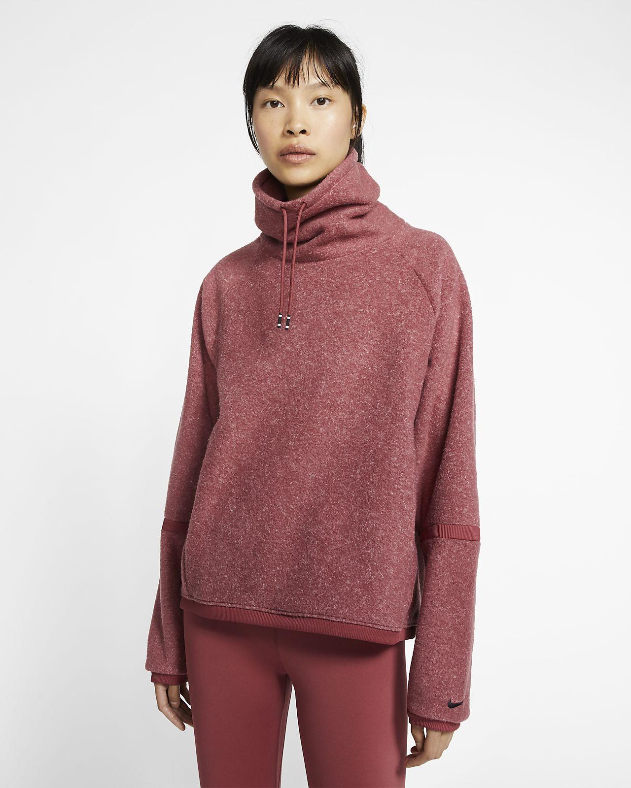 Nike Therma Langarm-Fleece-Trainingsoberteil für Damen