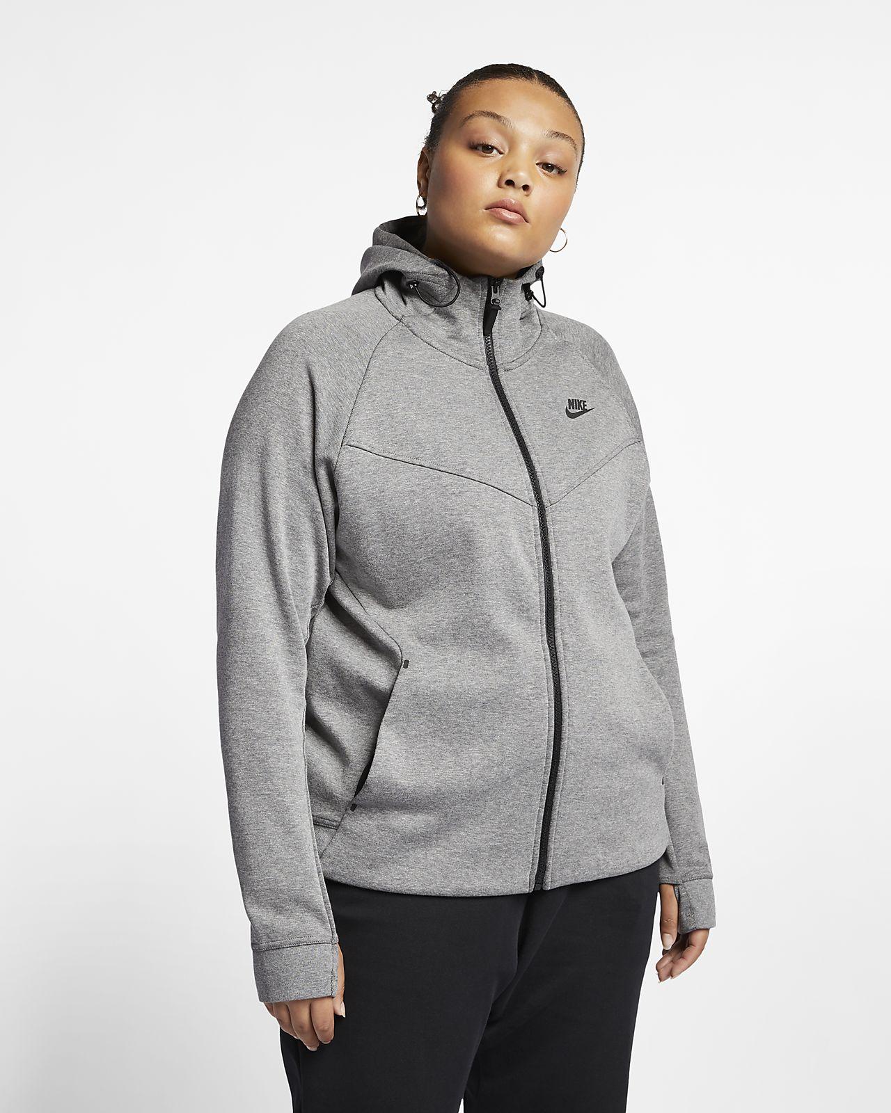 Nike Sportswear Tech Fleece Damen Hoodie mit durchgehendem Reißverschluss (Große Größen)