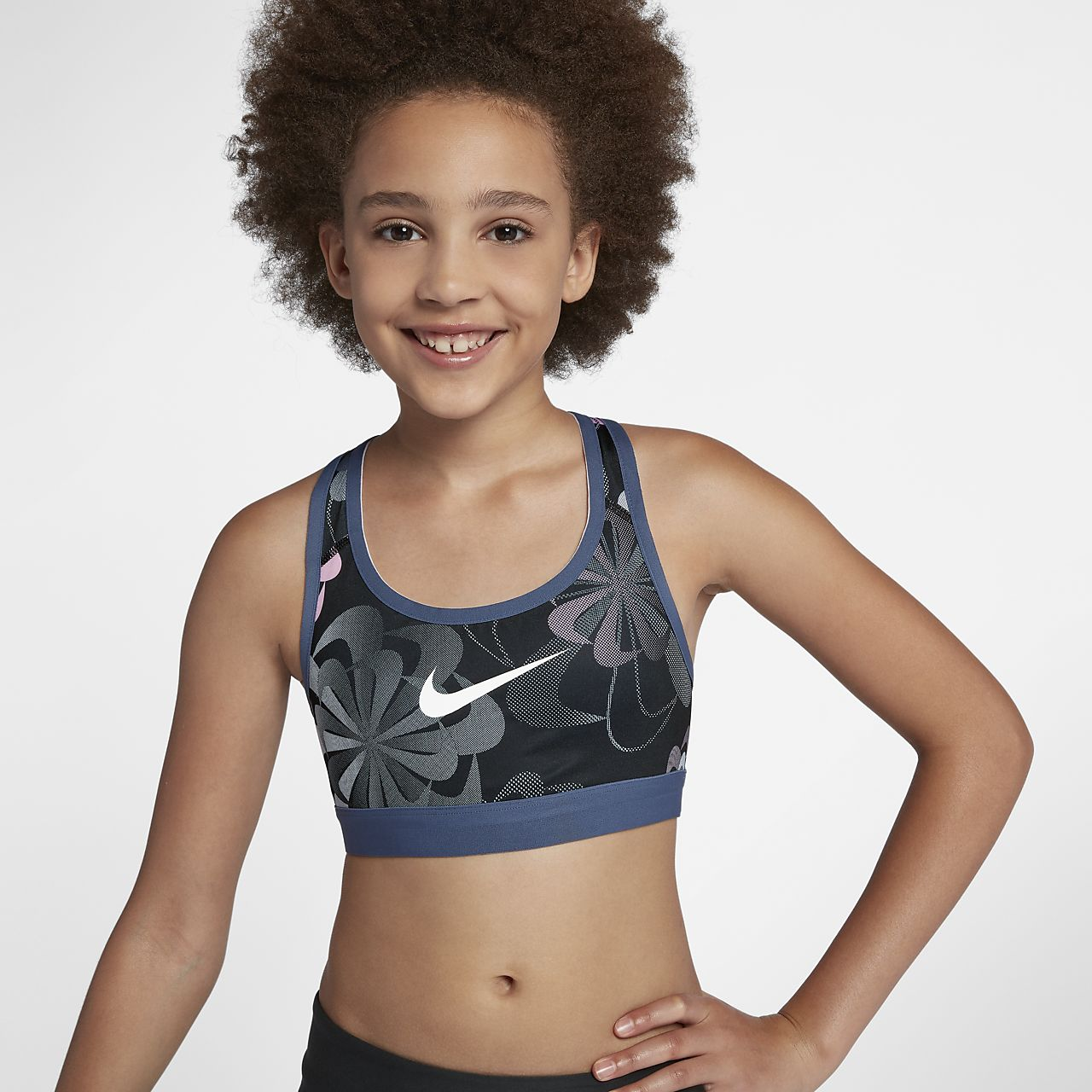 Nike Pro Classic Sostenidors esportius estampats reversibles - Nena