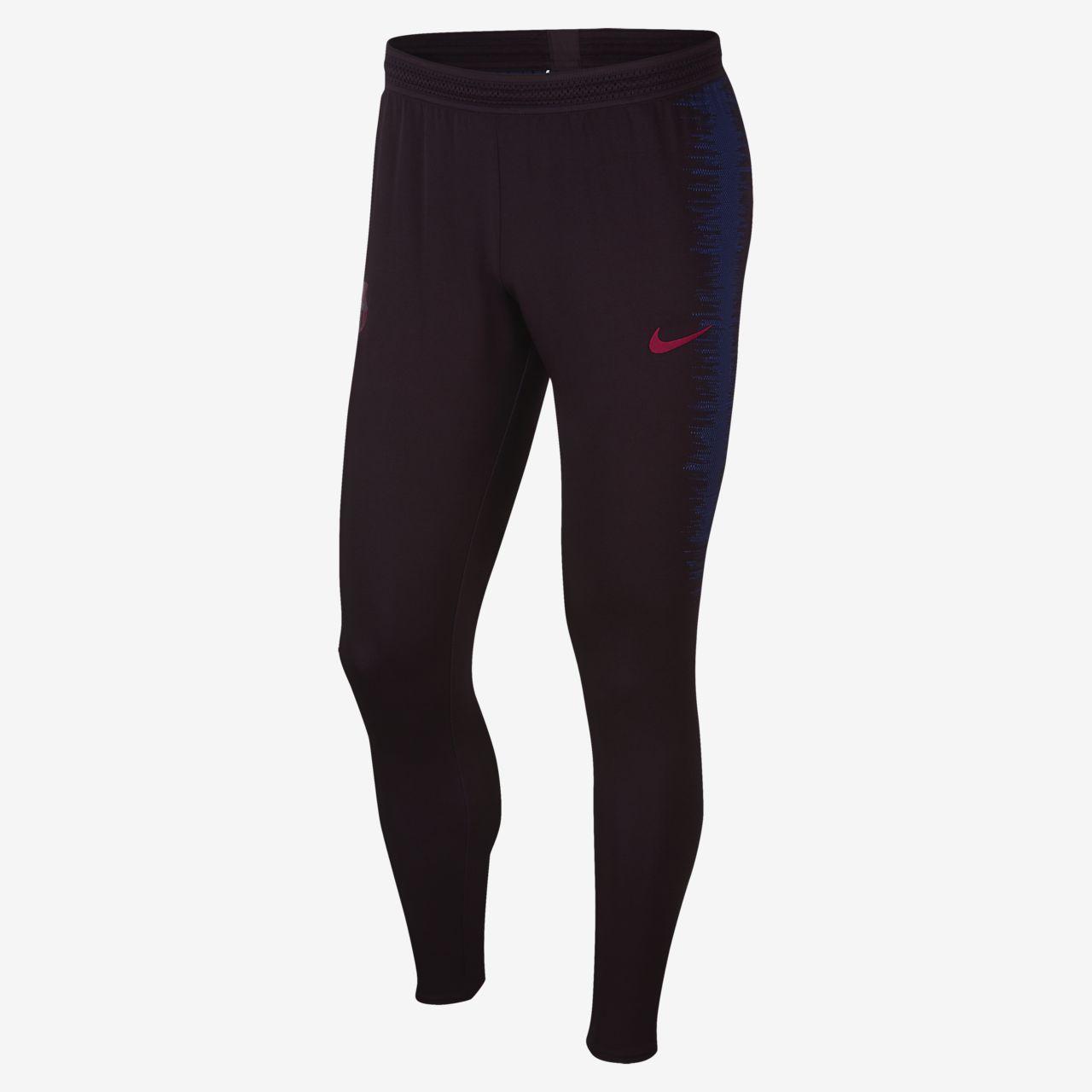 Calças de futebol Nike VaporKnit FC Barcelona Strike para homem