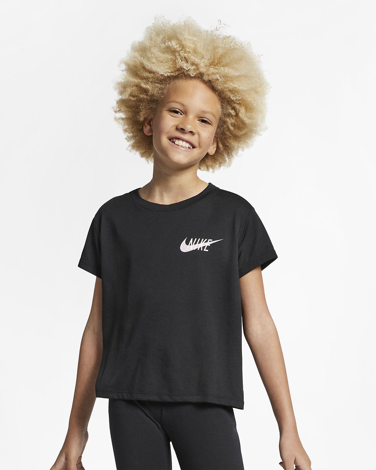 Nike Dri-FIT Older Kids' (Girls') Short-Sleeve Training Top