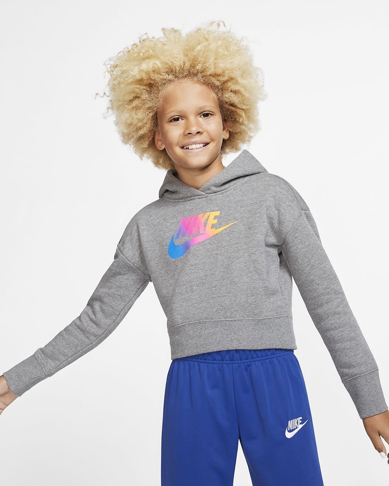 Укороченная худи для девочек школьного возраста Nike Sportswear