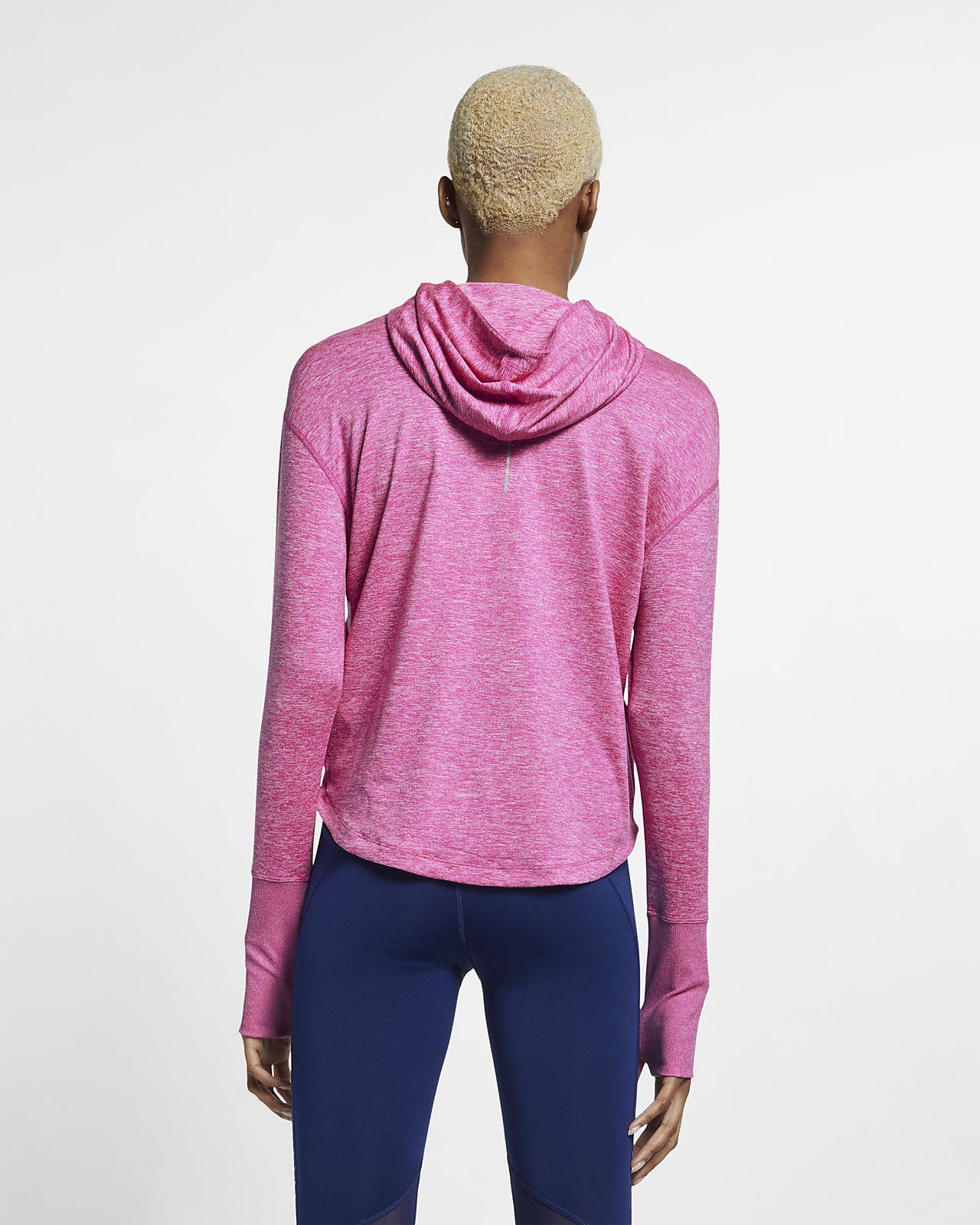 Nike Womens Fitness Running Hoodie Pink M