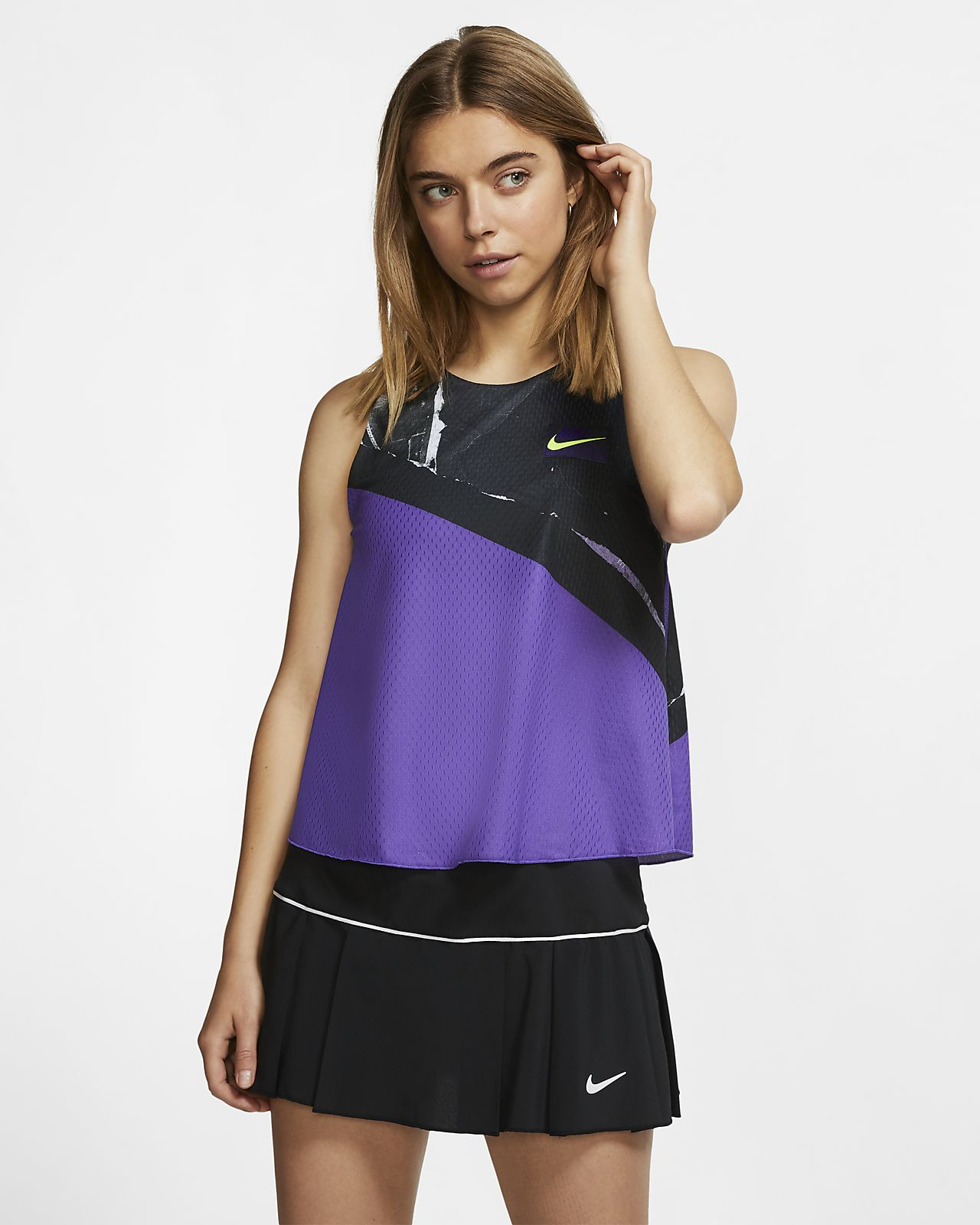 NikeCourt 2-in-1 tennistanktop voor dames