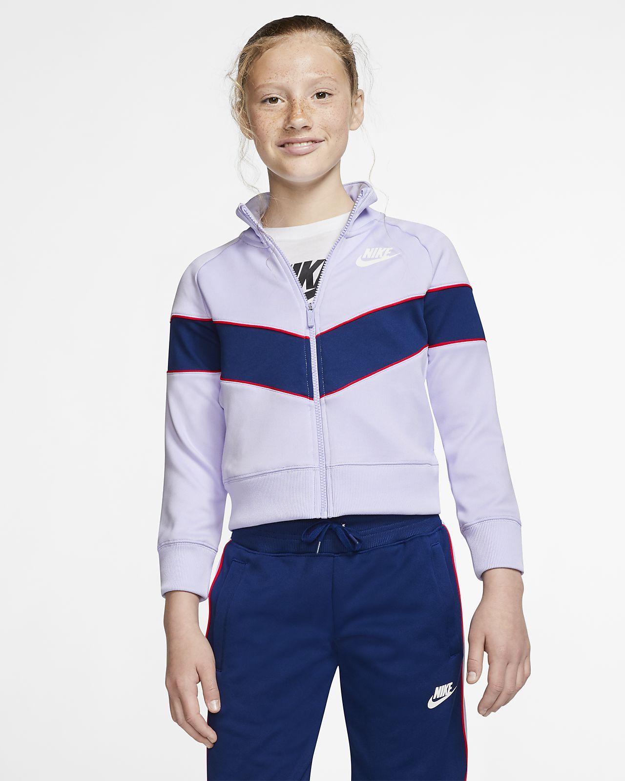 Nike Sportswear Heritage hosszú cipzáras kabát nagyobb gyerekeknek (lányoknak)