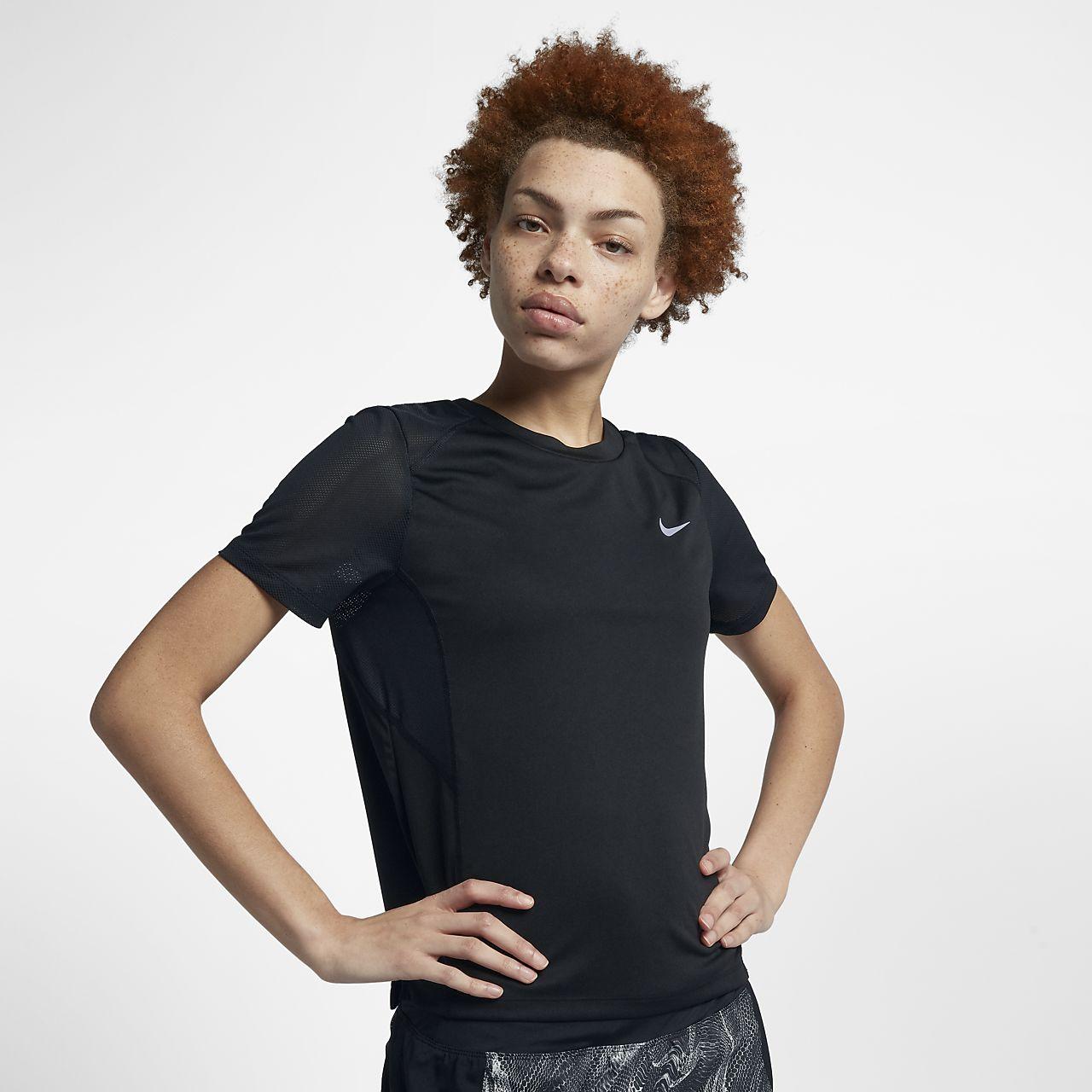 nueva alta calidad venta caliente mejor elección Top de running de manga corta para mujer Nike Dri-FIT Miler