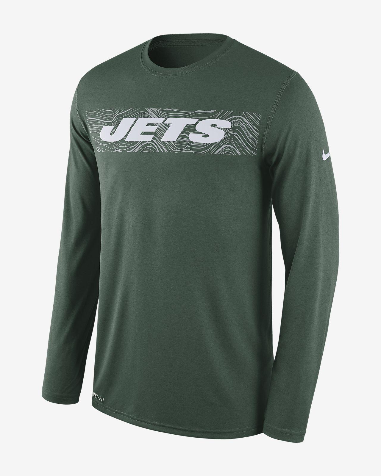 Nike Dri-FIT Legend Seismic (NFL Jets) Men s Long Sleeve T-Shirt ... f52c69d80