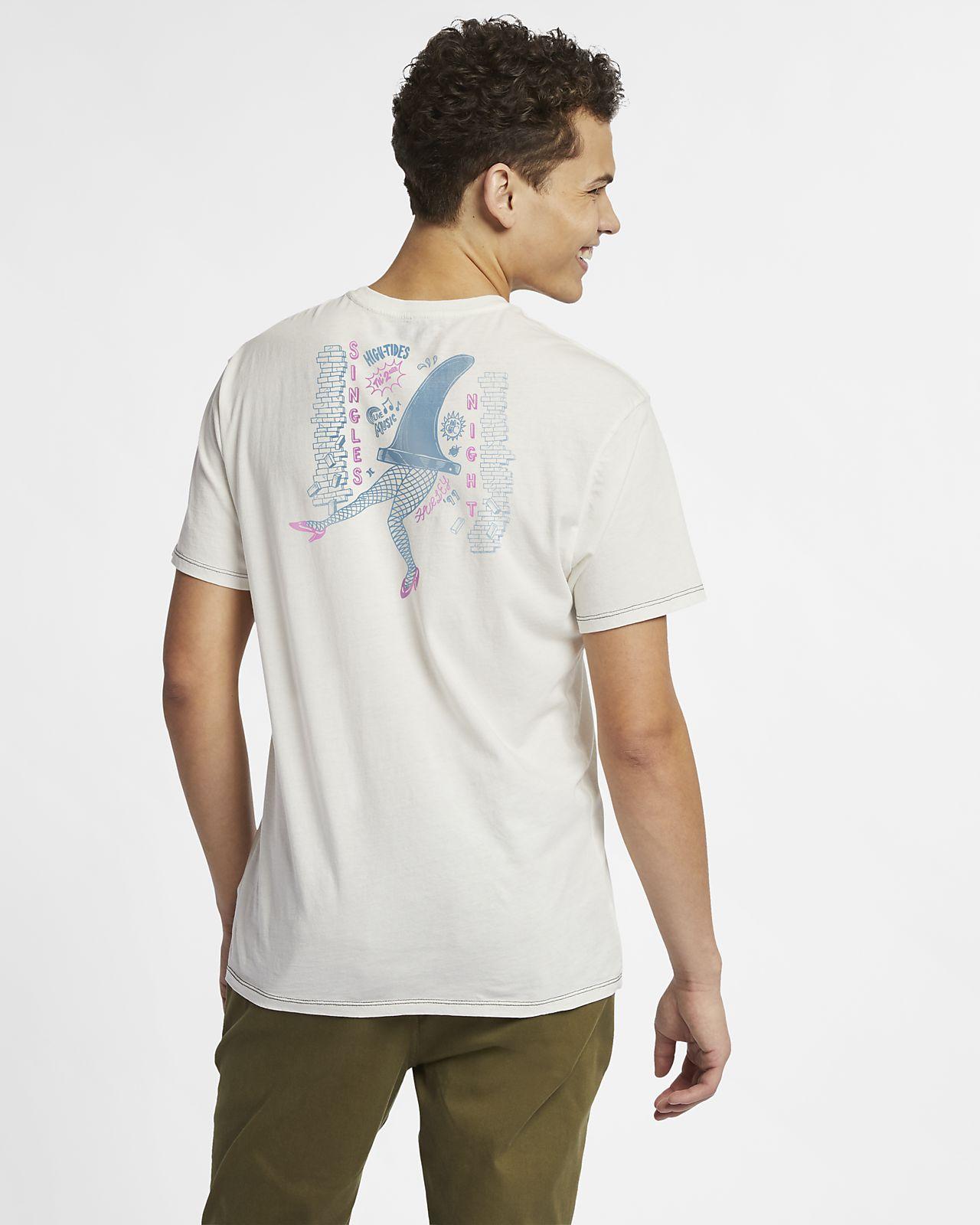 T-shirt Hurley Singles Night para homem