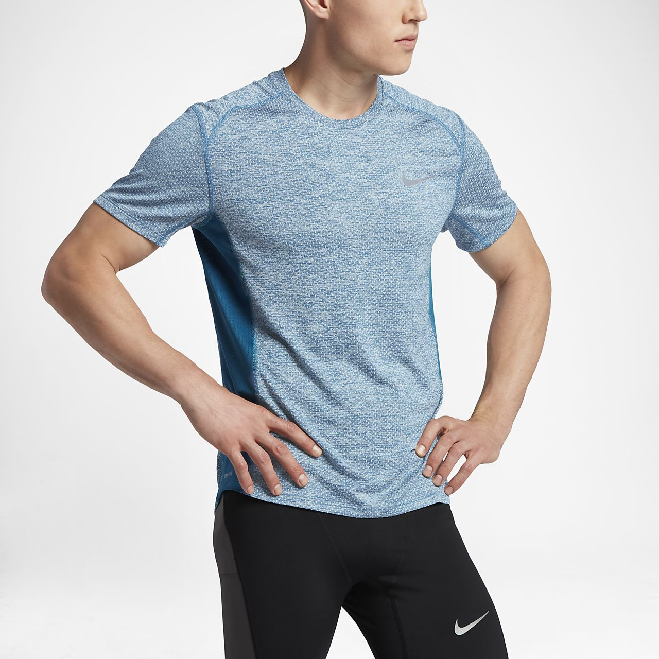 9ef35b6693861 Nike Breathe Miler Cool Men's Short-Sleeve Running Top. Nike.com ID