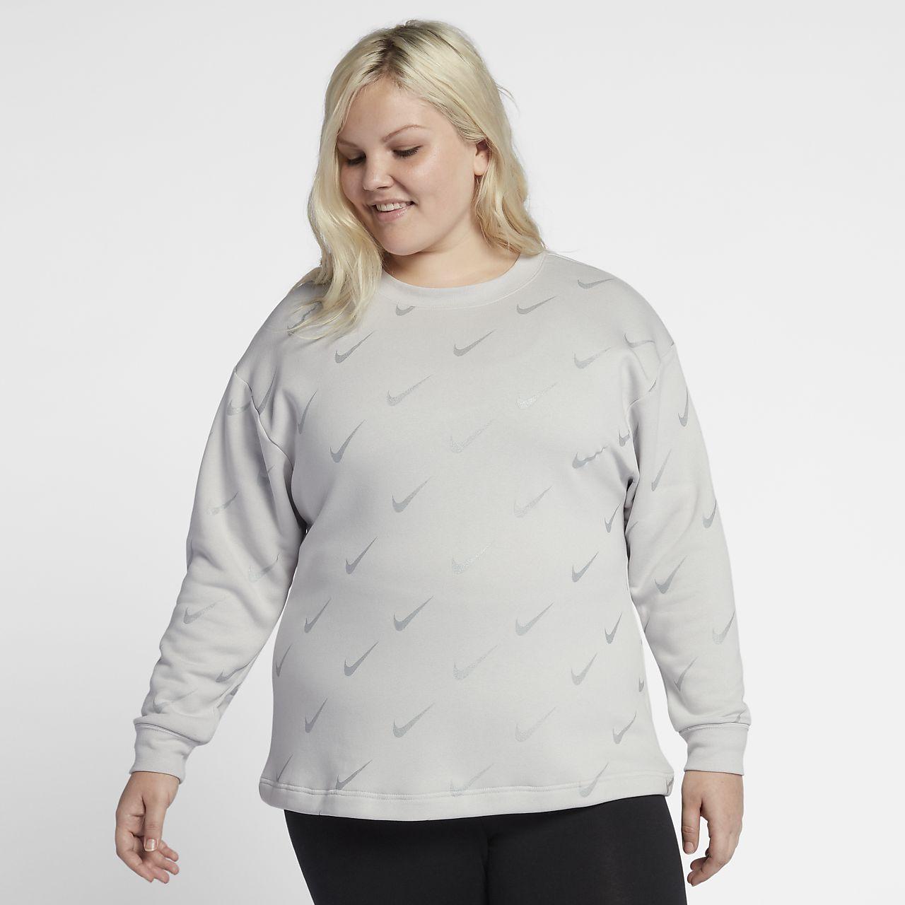 Tröja Nike Sportswear Rally med metalliskt tryck för kvinnor (stora storlekar)
