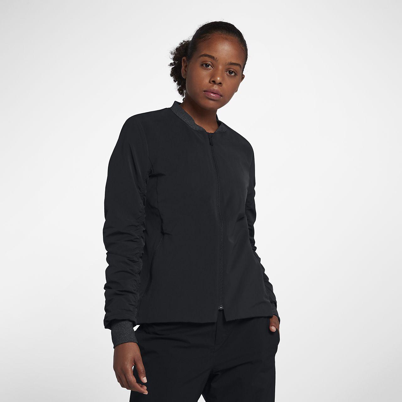 Chamarra bomber de golf para mujer Nike Shield