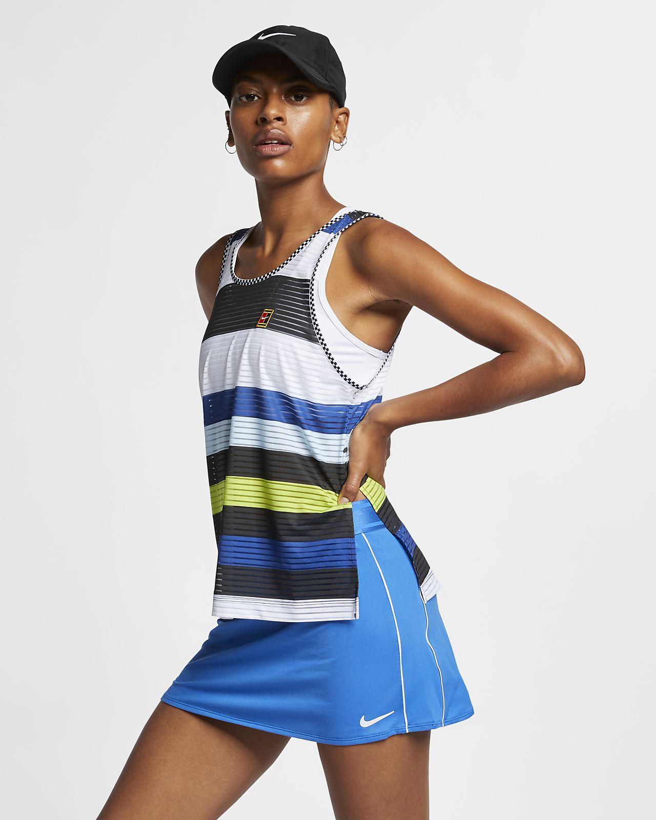 NikeCourt Dri-FIT-tennistanktop med print til kvinder