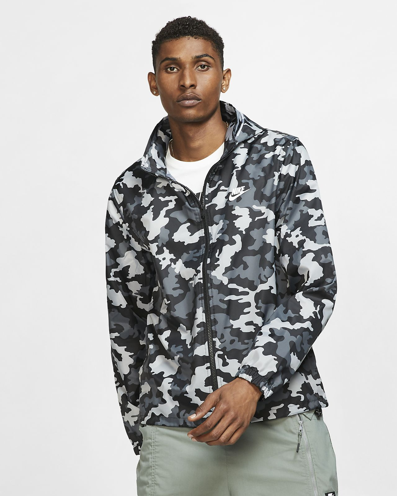 Nike Sportswear Camo Herrenjacke mit Kapuze