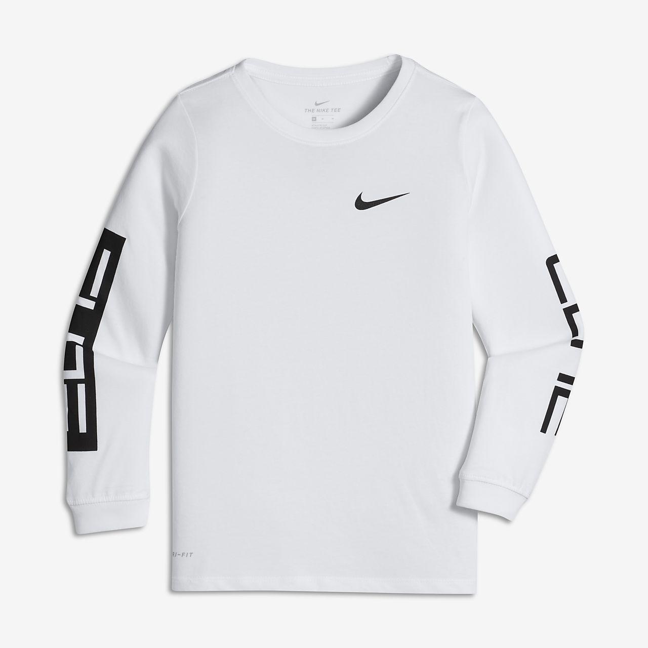 Nike Dri-FIT Big Kids' (Boys') Long Sleeve T-Shirt. Nike.com