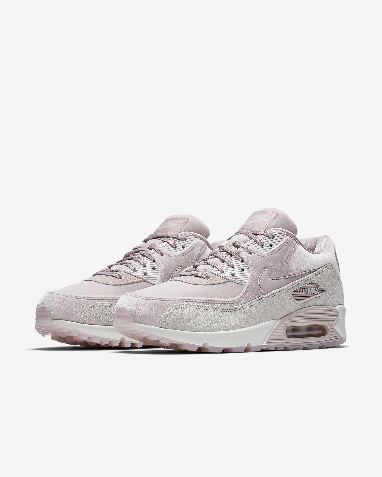 Nike Sportswear AIR MAX 90 LX - Trainers - particle rose/vast grey/summit white R9LtUkAN