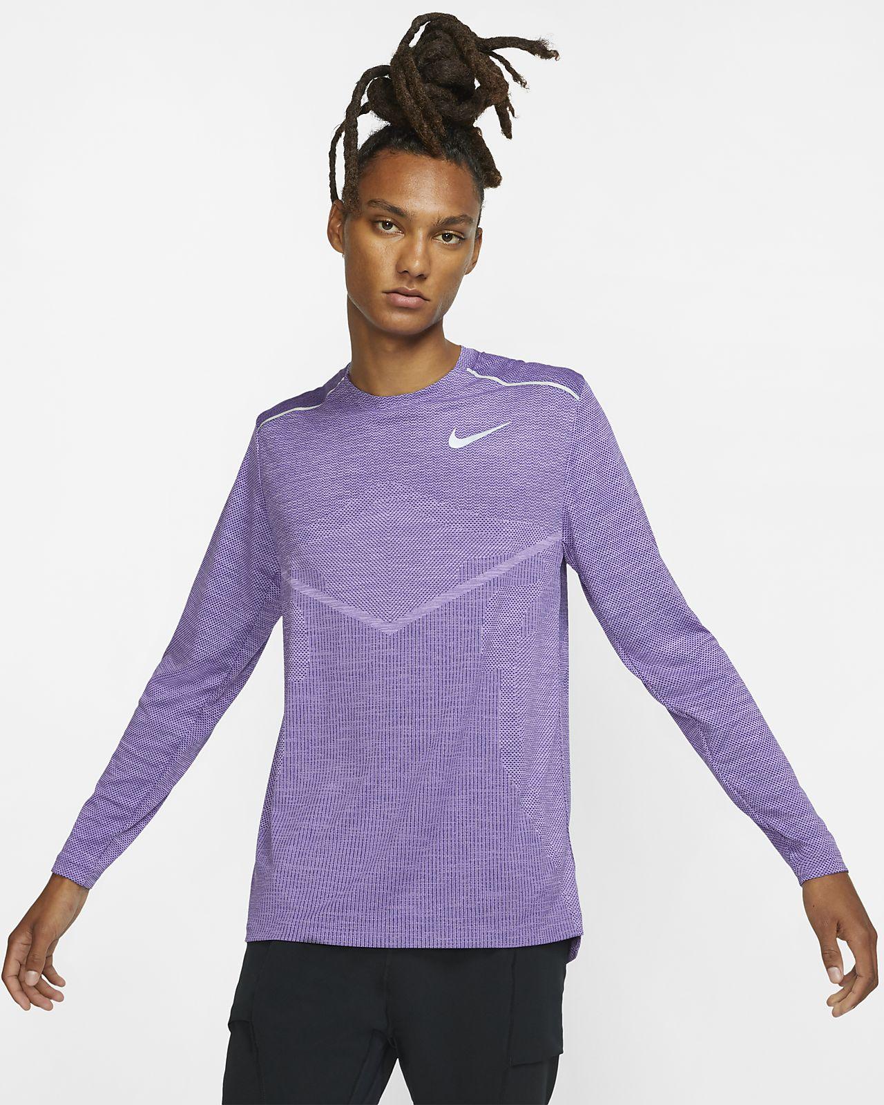 Ανδρική μακρυμάνικη μπλούζα για τρέξιμο Nike TechKnit Ultra