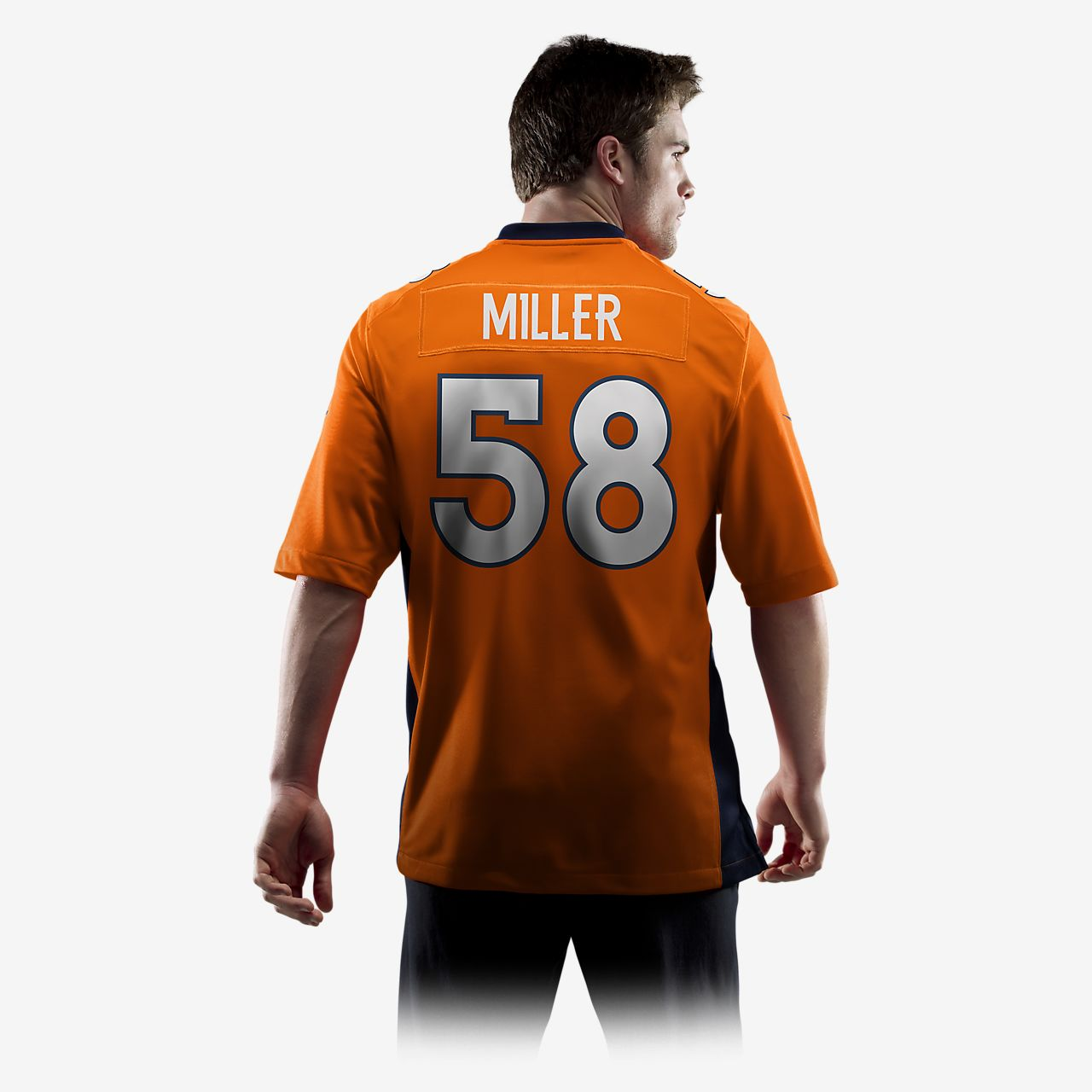 ... Camiseta oficial de fútbol americano de local para hombre NFL Denver  Broncos (Von Miller) 4cae6398f95