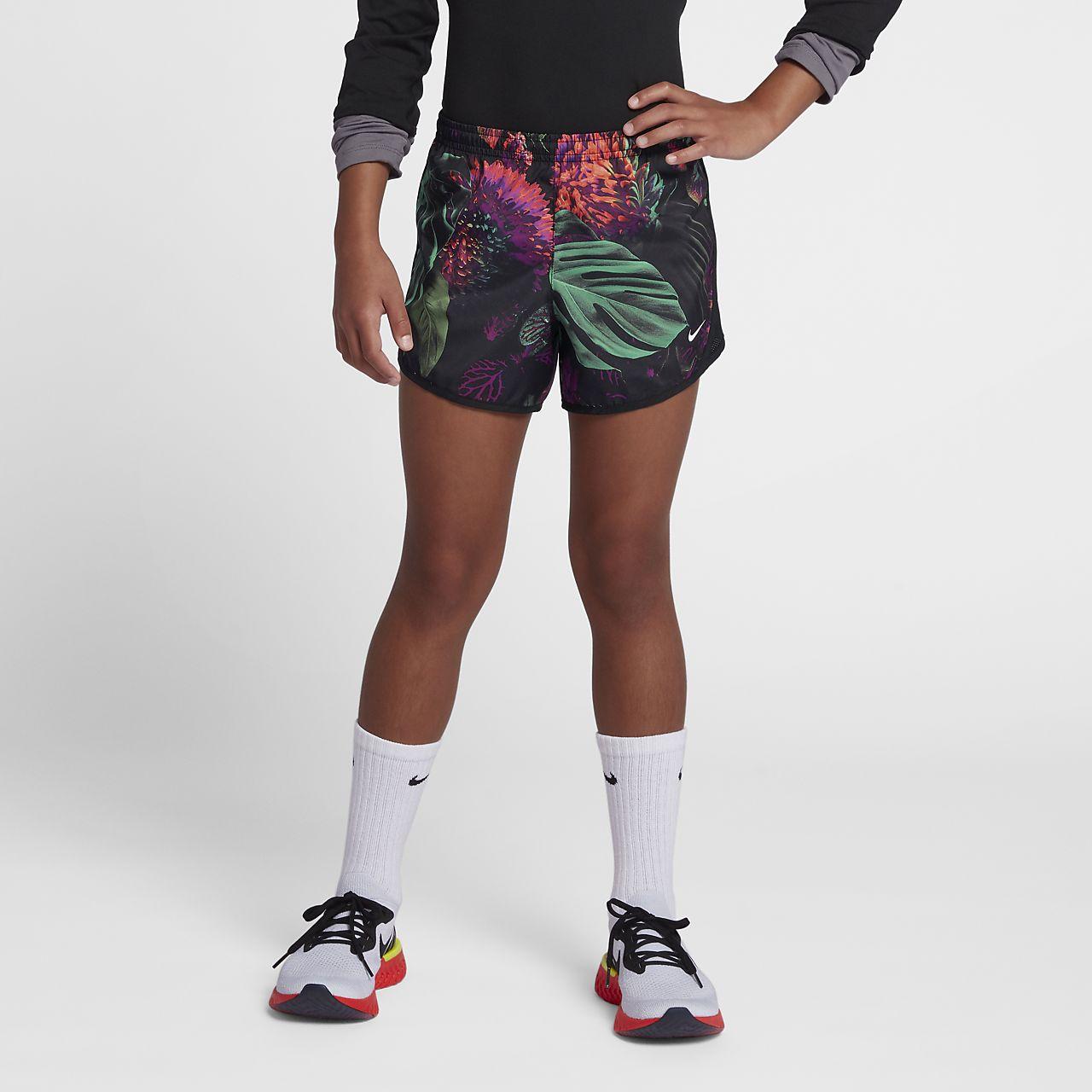d5a07f04b279 Nike Dri-FIT Tempo Older Kids  (Girls ) Printed Running Shorts. Nike ...