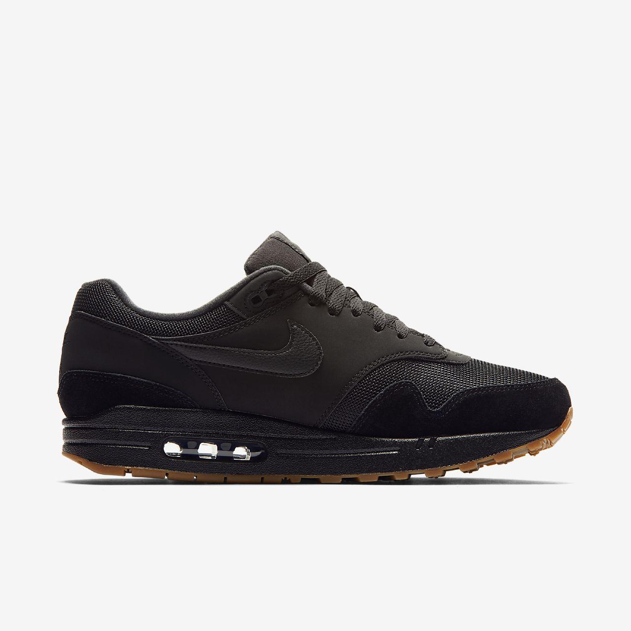 scarpa nike air max 1 neronerogum medium brownnero ah8145 007