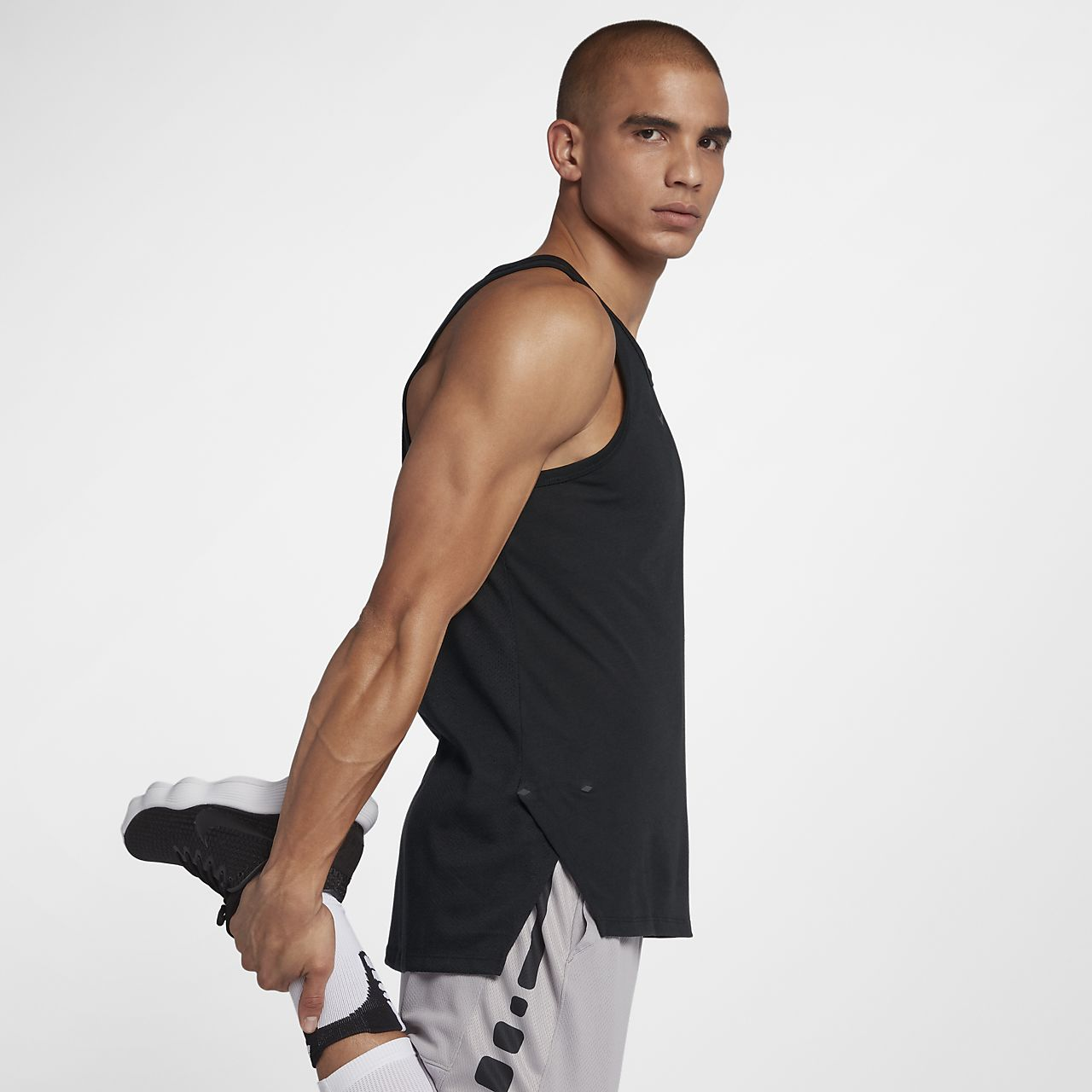 Top de básquetbol sin mangas para hombre Nike Breathe Elite