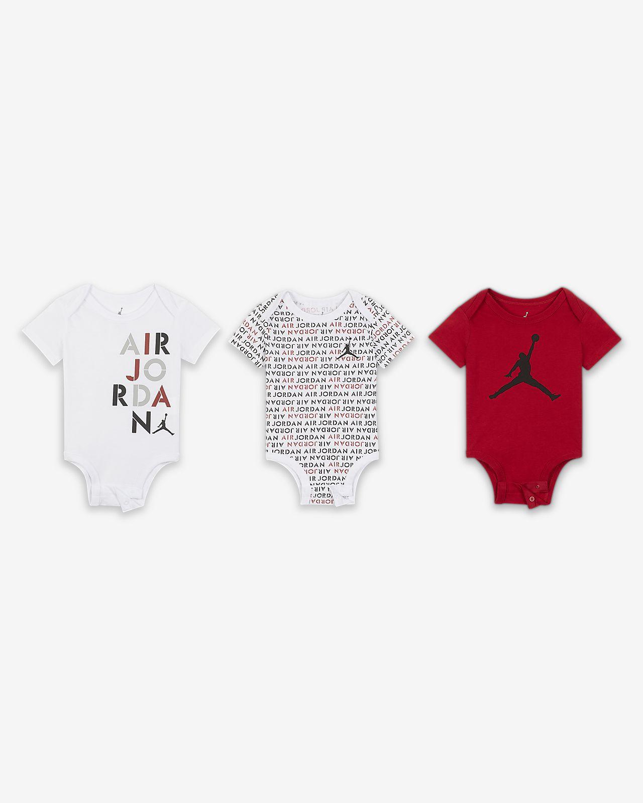 Air Jordan Rompertjesset voor baby's (0-9 maanden, 3 stuks)