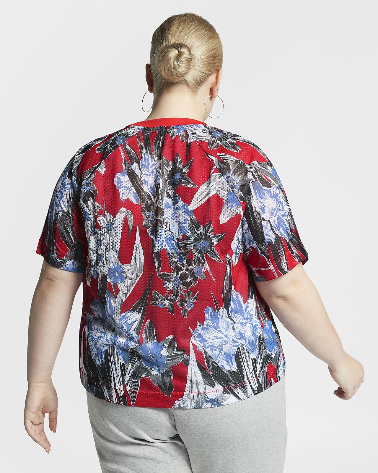 de87477ff6f Nike Sportswear Women's Short-Sleeve Floral Top (Plus Size). Nike.com