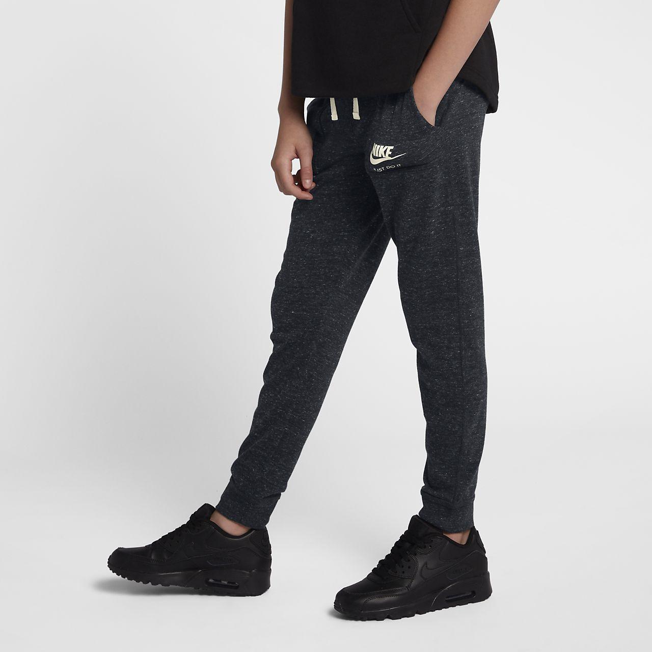 Nike Sportswear Vintage Big Kids' Pants Black/Sail