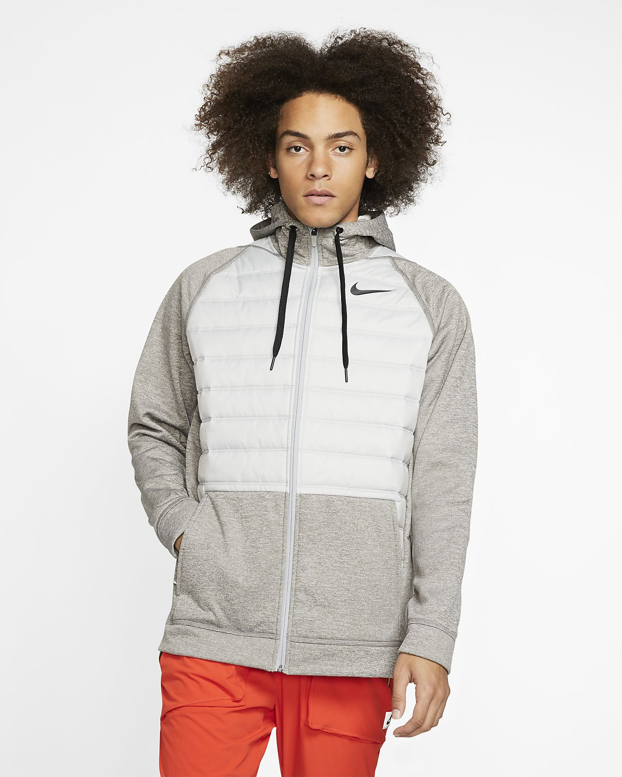 Nike Therma winterfester Trainings Hoodie mit durchgehendem Reißverschluss für Herren