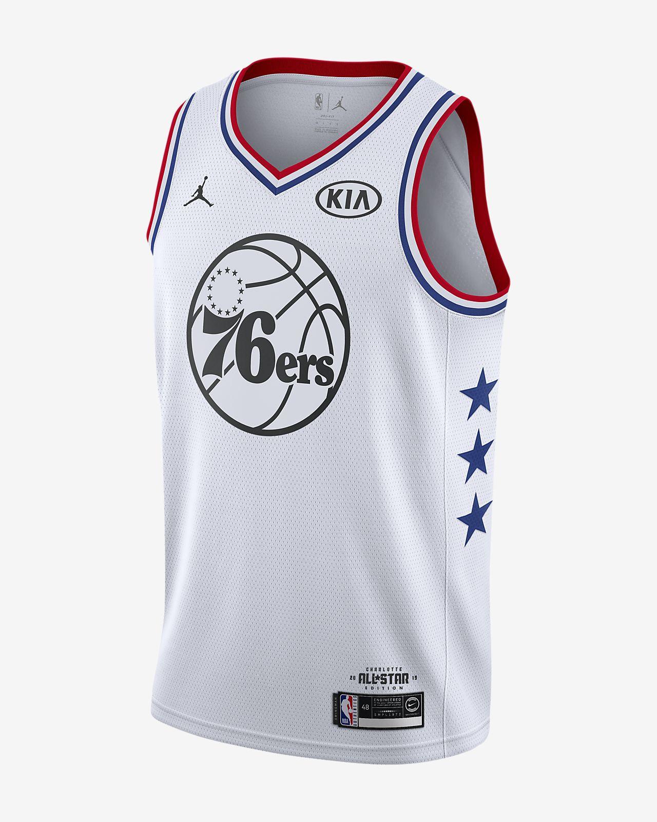 266454e94040a6 Men s Jordan NBA Connected Jersey. Joel Embiid All-Star Edition Swingman