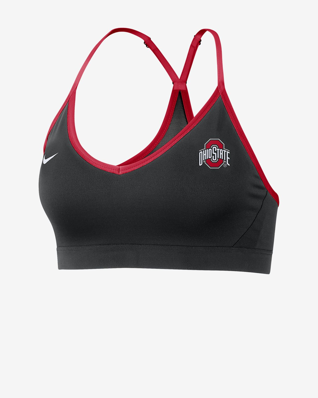Nike College Dri-FIT Indy (Ohio State) Women's Sports Bra