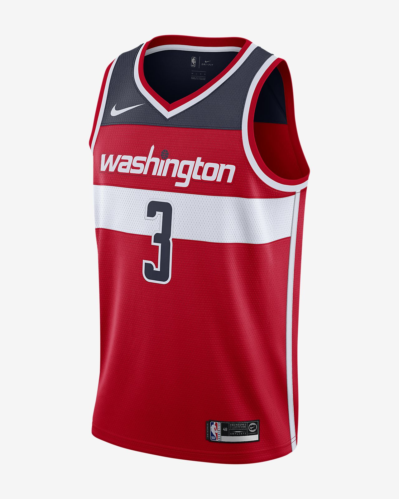 Camiseta de NBA para hombre Bradley Beal Washington Wizards Nike Icon Edition Swingman Jersey