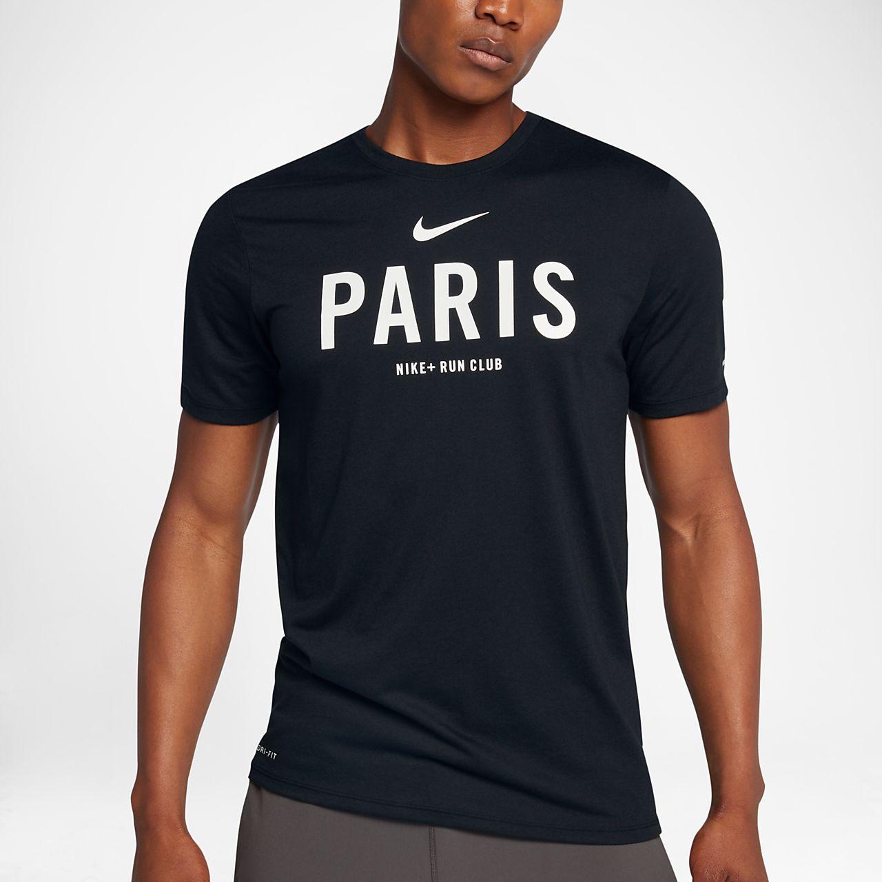 nike run club paris,Tee shirt Nike Dry Run Club Paris pour Homme