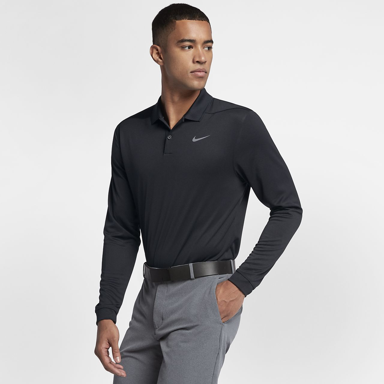 ... Nike Dri-FIT Victory Men's Long-Sleeve Standard Fit Golf Polo