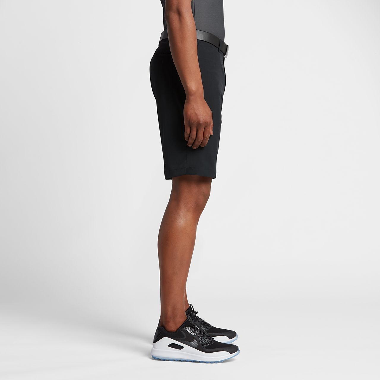 nike flat front stretch woven menu0027s golf shorts