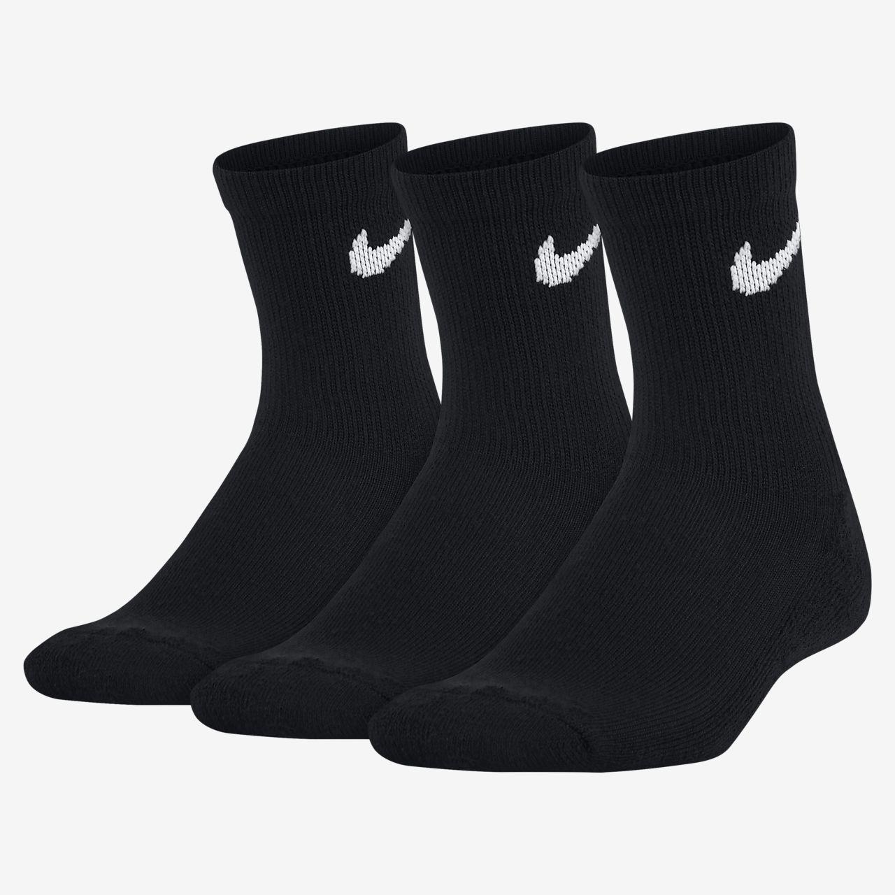 Nike Younger Kids' Cushioned Crew Socks (3-Pack)